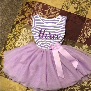 """ Three"" T-shirt tutu dress"